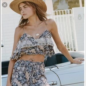 Spell oasis cropped cami- nightshade BNWT